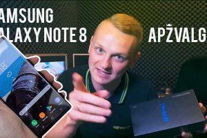 """Išmaniųjų karalius: """"Samsung Galaxy Note 8"""" apžvalga"""