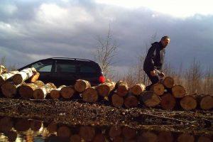 Kauno rajone pavogta mediena (gal atpažįstate vagį?)
