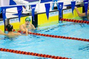 Lietuvos plaukikų estafetės komanda universiadoje liko septinta