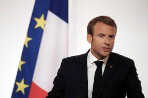 E. Macronas kreipimusi į europiečius davė startą EP rinkimų kampanijos pradžiai