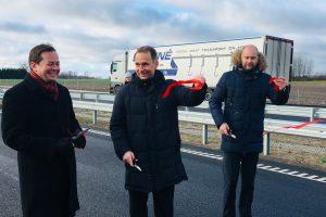 """Atidaryta rekonstruota """"Via Baltica"""" tarp Kauno ir Marijampolės"""