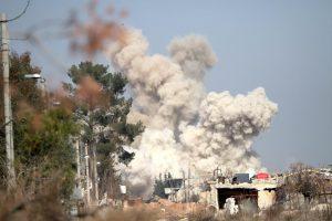 JAV koalicija smogė Sirijos režimą remiančioms pajėgoms