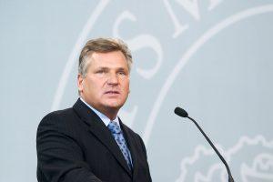 A. Kwasniewskis: būtina pakeisti Rusijos požiūrį į Ukrainą