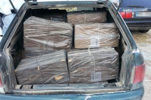 Šalčininkų rajone pasieniečiai sulaikė kontrabandinių rūkalų krovinį
