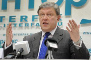 """Rusijos partijos """"Jabloko"""" įkūrėjas G. Javlinskis pradeda prezidentinę kampaniją"""