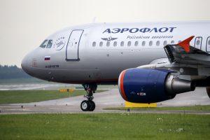 """""""Aeroflot"""" perka beveik 100 tūkst. butelių degtinės keleiviams verslo klase"""