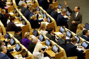 Rusijos parlamentas patvirtino būsimą taupų biudžetą