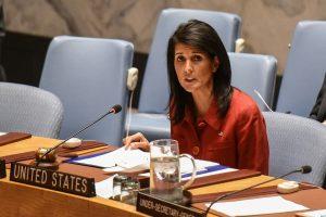 JAV vetavo JT rezoliuciją, atmetančią D. Trumpo sprendimą dėl Jeruzalės
