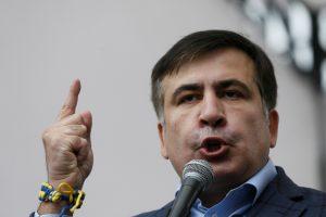"""M. Saakašvilis ieškos Ukrainoje """"300 spartiečių"""" valdžiai šalyje pakeisti"""