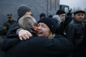 Kijevas: 36 sulaikytus Rusijos piliečius perduosime tik Maskvai