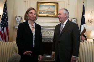 F. Mogherini paprašė D. Trumpo administracijos nesikišti į Europos reikalus