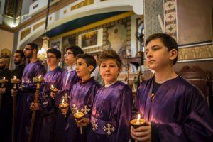 Egipto koptai susikaupę mini Didįjį penktadienį