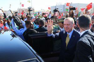 Vakarų Afrikoje viešintis Turkijos prezidentas atvyko pirmo vizito į Mauritaniją