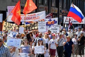 Rygoje įvyko demonstracija prieš ugdymą latvių kalba rusiškose mokyklose