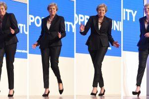 Didžiosios Britanijos premjerė pasišaipė iš savo choreografinių gabumų