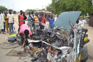Per mirtininkės išpuolį Nigerijoje žuvo mažiausiai aštuoni žmonės