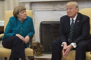 A. Merkel ir D.Trumpas telefonu aptarė situaciją Sirijoje ir Ukrainoje