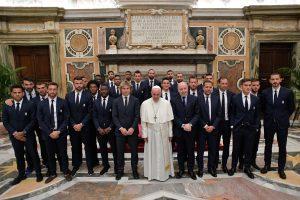Popiežius priminė Italijos futbolininkams jų atsakomybę jaunimui