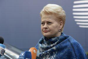 D. Grybauskaitė: Europos Komisija ragina Lietuvą pasitempti