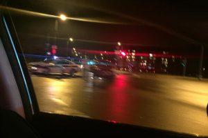 Sostinėje sumaitotas policijos automobilis