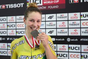 Dviratininkė O. Baleišytė pasaulio treko čempionate – 14-a