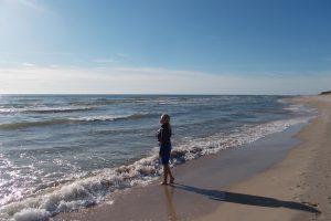 Jūra apsėmė dalį Palangos paplūdimio