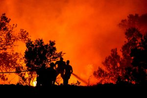 Portugalijos atostogų regione Algarvėje toliau liepsnoja miškai