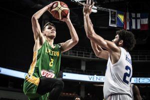 Dėl kelialapio į pasaulio čempionatą kovojantys lietuviai sutriuškino britus