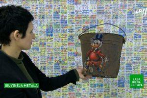 Lietuvė menininkė pasaulyje garsėja siuvinėdama metalą