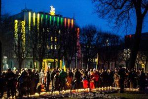 Prie R. Kalantos paminklo – paramos žodžiai Ukrainai