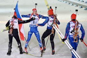 Mišrios estafetės varžybose pasaulio biatlono čempionate Lietuvos kvartetas - 23-as