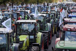Prancūzų žemdirbiai pyksta dėl smukusių žemės ūkio produktų kainų