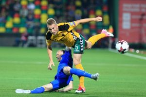 Lietuvos futbolo rinktinę retina traumos