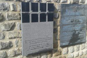 Mauthauzene atidengta memorialinė lenta ten kalėjusiems Lietuvos gyventojams atminti