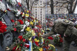 Ukrainiečiai pagerbė Maidano protestų aukas