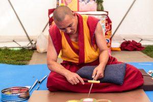 Vienuoliai Vilniuje skleidžia archajišką Tibeto kultūrą