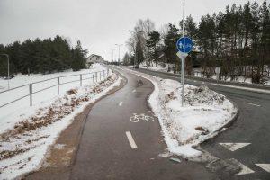 T. Narbuto gatvėje pradėtas tiesti 4 km ilgio dviračių takas