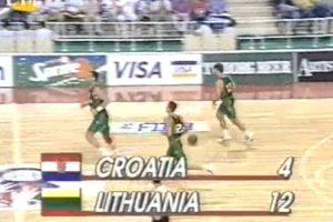 Prieš 18 metų: lietuvių pergalę prieš kroatus nukalė Š. Marčiulionis ir Sabas