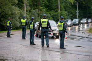 Vaišvydavoje vairuotojų laukė policija