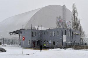 Ukrainoje – Černobylio reaktoriaus gaubto užbaigimo ceremonija