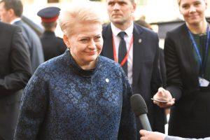 """D. Grybauskaitė apie D. Trumpą: prasideda """"twitterinės"""" diplomatijos era"""