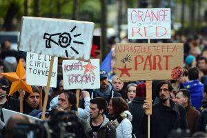 Vengrijoje – protestai prieš Rusijos įtaką šaliai
