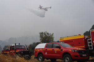 Prancūzijoje didžiulis gaisras nuniokojo 500 hektarų pušyno