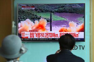 D. Trumpas: po Šiaurės Korėjos raketos bandymo JAV svarsto visas galimybes