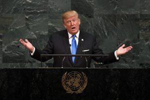 D. Trumpas perspėjo JT dėl niekšiškų valstybių grėsmės
