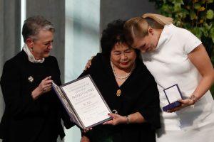 Branduolinių ginklų uždraudimo siekianti grupė atsiėmė Nobelio premiją