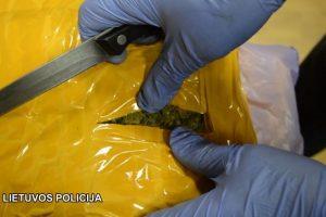Narkotikų kurjerė perduota į teisėjų rankas
