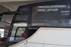 Lietuva siunčia nuoširdų keliaujantį sveikinimą latviams
