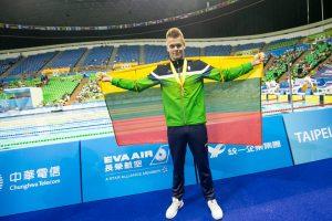 D. Rapšys iškovojo antrą aukso medalį universiadoje