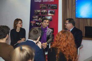 LSMU gimnazijoje viešėjo Prancūzijos ambasadorius